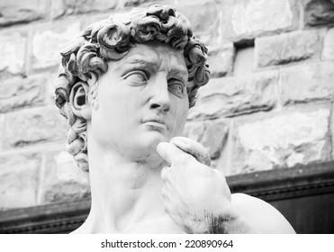 Michelangelo's replica David statue. Florence, Italy