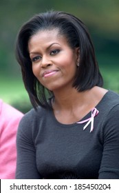 Michelle Obama at the press conference for First Lady Michelle Obama Hosts Breast Cancer Awareness Month Event, The White House, Washington, DC October 23, 2009