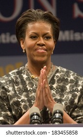 Michelle Obama at a public appearance for ServiceNation Launch of Mission Serve-Forging a Continuum of Service, George Washington University, Washington, DC November 11, 2009
