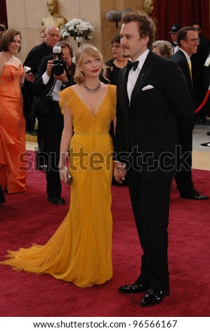 MICHELLE WILLIAMS Left HEATH LEDGER At The 78th Annual Academy Awards Kodak Theatre In Hollywood March 5 2006 Los Angeles CA Paul Smith