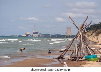 Coal Lake Michigan Plant Power Images, Stock Photos