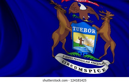 Michigan flag - USA state flags collection no_3