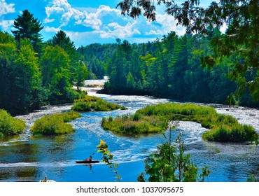 Michigan Upper Peninsula. This river and Falls are in a state park.