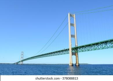 Michigan's Mackinac Bridge on a Sunny Summer Day