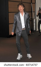 """Mick Jagger at photocall for his new movie """"Stones in Exile"""" at the 63rd Festival de Cannes. May 19, 2010  Cannes, France Picture: Paul Smith / Featureflash"""