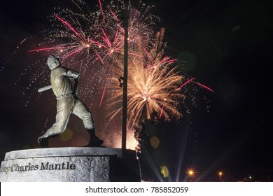 Mickey Mantle Statue. Commerce, Oklahoma July 4, 2015