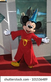"Mickey Mouse  at the  ""The Sorcerer's Apprentice"" Film Premiere, Walt Disney Studios, Burbank, CA 07-12-10"