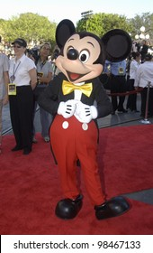 MICKEY MOUSE at the world premiere of Pirates of the Caribbean: The Curse of the Black Pearl, at Disneyland, California. June 28, 2003  Paul Smith / Featureflash