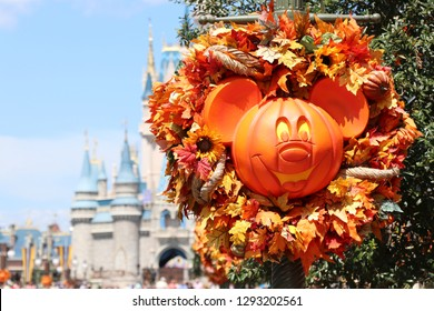 Mickey not so scary pumpkin