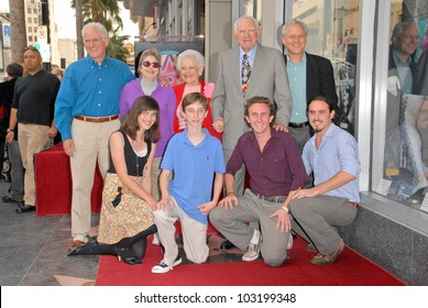Mickie Wapner and Joseph A. Wapner and family at the induction ceremony of Judge Joseph A.Wapner into the Hollywood Walk of Fame, Hollywood, CA. 11-12-09