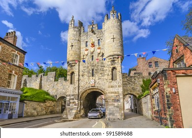 Micklegate - old medieval gate of York, Yorshire, England, UK, United Kingdom, Europe
