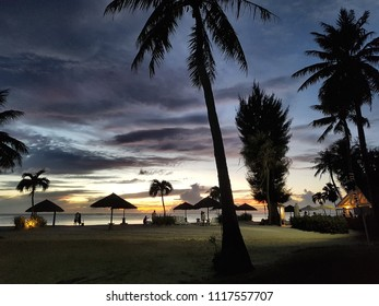 micro beach sunset