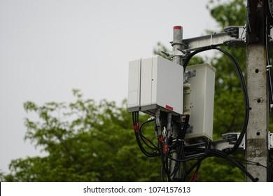Micro cell 3G, 4G, 5G. Small cell telecom equipment. Wireless Communication Antenna.