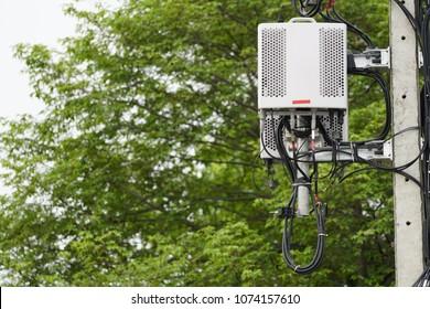Micro cellular 3G, 4G, 5G. Small cellular telecom equipment. Wireless Communication Antenna.
