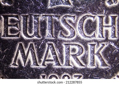 Micro Photo of a German Mark