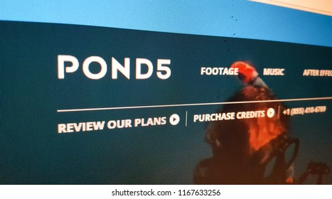 Micro Stock Photos Website Pond5 Homepage Logo 28/08/2018