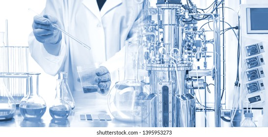 Microbiological bioreactor. Cultivation of microorganisms. Bio-fermentation. Bioengineering. Vaccine production. Creation of medicines. Pharmacology. Laboratory equipment.