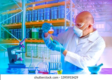 Microbiology. Laboratory conducts distillation of the chemical solution in the workplace. Synthesis of microorganisms in the bioreactor. Production of biofertilizers. The cultivation of biomass.