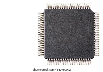 Microchip isolated on a white background