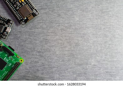 Microcontroller boards for IoT project or stem education