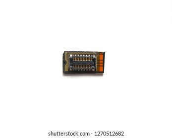 Microcontroller of cell phone on white background