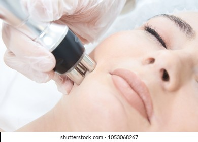 Microcurrent technology equipment. Body, face, decollete, chin, nose, forehead.