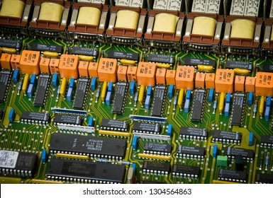 Microelectronic board with a lot of details