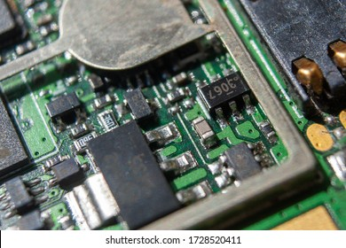 Microelectronics integrated circuits, printed circuit Board Webs, microchips and connectors.