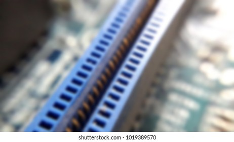 microelectronics on a blurry background