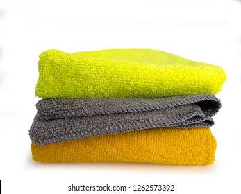 Microfiber Cleaning Cloth , on white background.