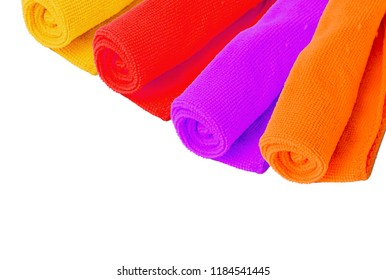 Microfiber cloth separated from the white background.