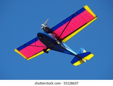 Microlight Aircraft against a blue sky