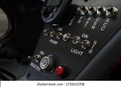 Microlight Ultralight aircraft inside autogyro instrument panel