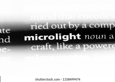 microlight word in a dictionary. microlight concept.