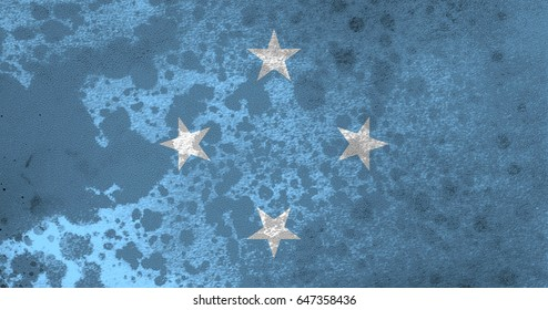 Micronesia flag grunge background. Background for design in country flag