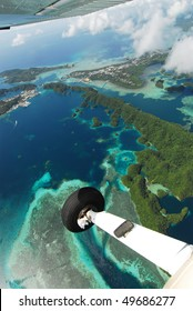 Micronesia Islands from light aircraft