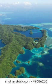 Micronesian islands from the air