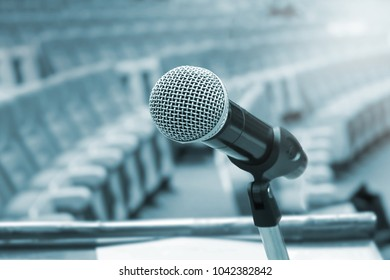 Microphone with auditorium background