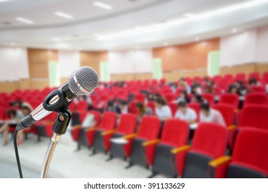 Microphone in auditorium background