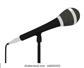 Microphone Closeup Musical Showing Concert Songs Or Singing Hits