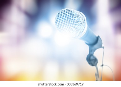 microphone with colorful background