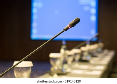 microphone at the conference room