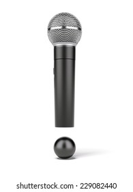 microphone as exclamation mark