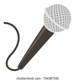 Microphone icon. cartoon illustration of microphone  icon for web