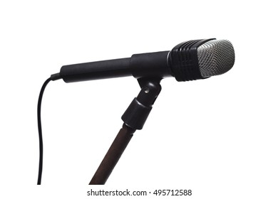Microphone isolate on white background