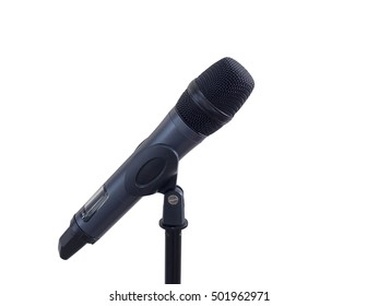 Microphone isolated on white background.