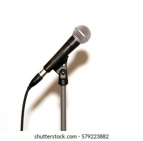 Microphone isolated on a white background.