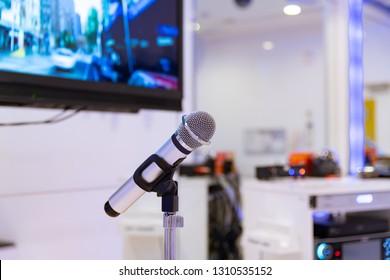 Microphone in karaoke box