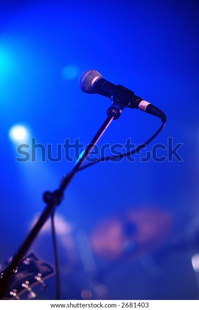 Microphone at live music show