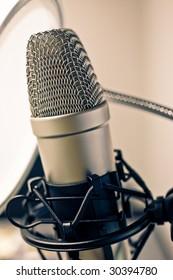 Microphone in metal.